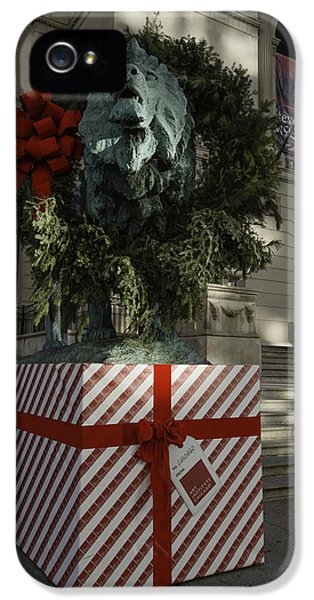 Chicago Art Institute Lion IPhone 5 Case by Sebastian Musial