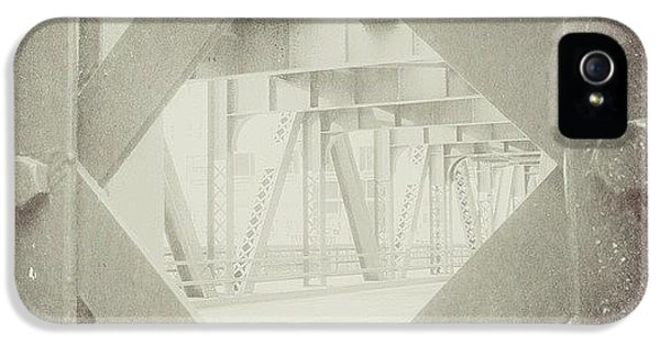 Architecture iPhone 5 Case - Chicago Bridge Ironwork Vintage Photo by Paul Velgos