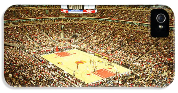 Chicago Bulls, United Center, Chicago IPhone 5 Case by Panoramic Images