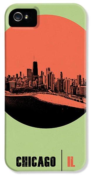 University Of Illinois iPhone 5 Case - Chicago Circle Poster 1 by Naxart Studio
