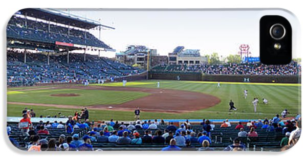 Chicago Cubs Pregame Time Panorama IPhone 5 Case by Thomas Woolworth