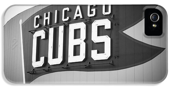 Chicago Cubs Wrigley Field Sign Black And White Picture IPhone 5 / 5s Case by Paul Velgos