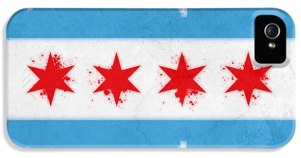Chicago Flag IPhone 5 Case by Mike Maher