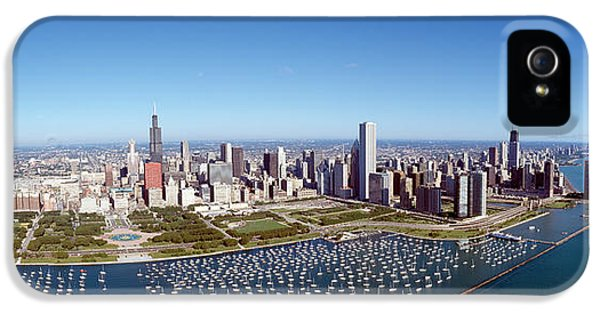 Central Il iPhone 5 Cases - Chicago Harbor, City Skyline, Illinois iPhone 5 Case by Panoramic Images