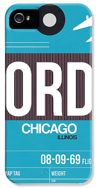 Grant Park iPhone 5 Case - Chicago Luggage Poster 1 by Naxart Studio