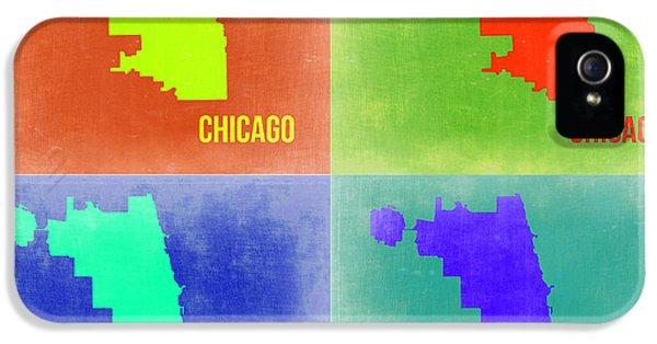 University Of Illinois iPhone 5 Case - Chicago Pop Art Map 2 by Naxart Studio