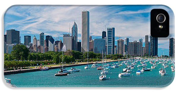 Chicago Skyline Daytime Panoramic IPhone 5 Case by Adam Romanowicz