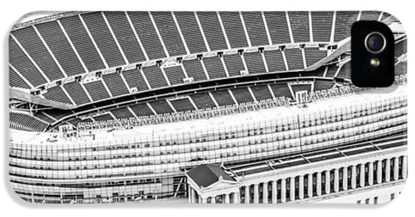 Chicago Soldier Field Aerial Panorama Photo IPhone 5 Case by Paul Velgos