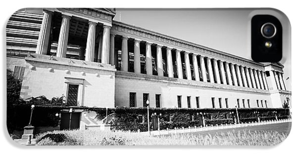 Chicago Solider Field Black And White Picture IPhone 5 Case by Paul Velgos