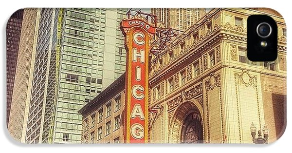 City iPhone 5 Case - Chicago Theatre #chicago by Paul Velgos