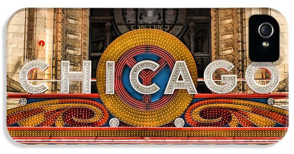 Chicago Theatre Marquee Sign IPhone 5 Case by Christopher Arndt