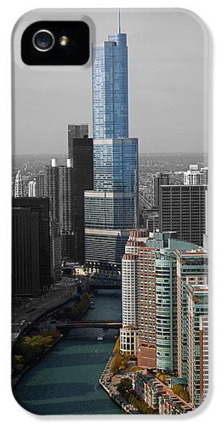 Chicago Trump Tower Blue Selective Coloring IPhone 5 Case