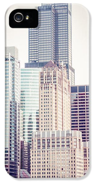 Chicago Vertical Panorama Of Sears Willis Tower IPhone 5 Case