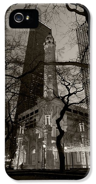 Chicago Water Tower B W IPhone 5 Case by Steve Gadomski