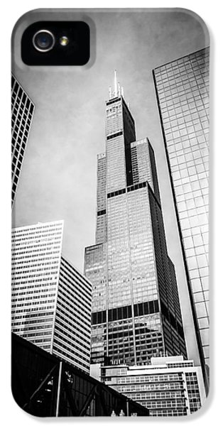 Chicago Willis-sears Tower In Black And White IPhone 5 Case