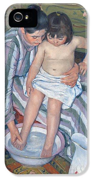 Child's Bath 1893 IPhone 5 Case by  Mary Stevenson Cassatt