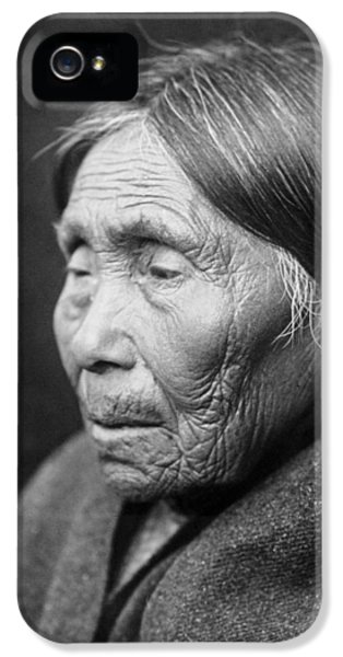 Chimakum Indian Woman Circa 1913 IPhone 5 Case by Aged Pixel