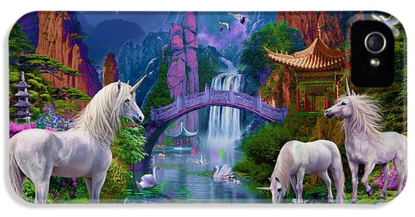 Chinese Unicorns IPhone 5 Case by Jan Patrik Krasny