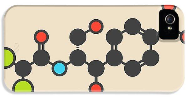 Toxicity iPhone 5 Case - Chloramphenicol Antibiotic Drug Molecule by Molekuul
