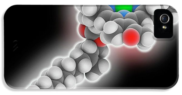 Chlorophyll B Molecule IPhone 5 Case by Laguna Design