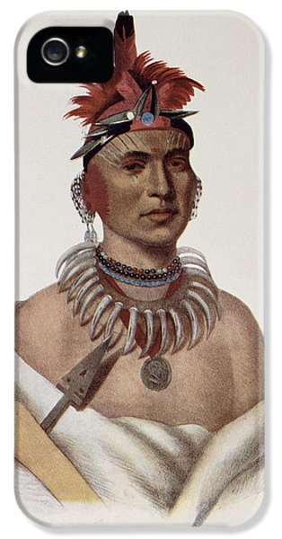 Chon-ca-pe Or Big Kansas, An Oto Chief, Illustration From The Indian Tribes Of North America IPhone 5 Case by Charles Bird King
