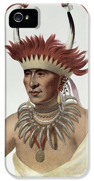 Chon-mon-i-case Or Lietan, An Oto Half-chief, 1821, Illustration From The Indian Tribes Of North IPhone 5 Case by Charles Bird King
