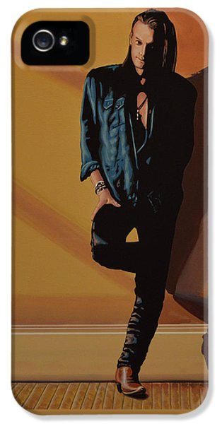 Chris Whitley IPhone 5 Case by Paul Meijering