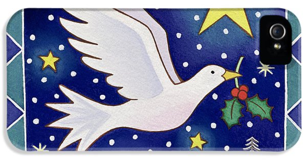Christmas Dove  IPhone 5 Case by Cathy Baxter