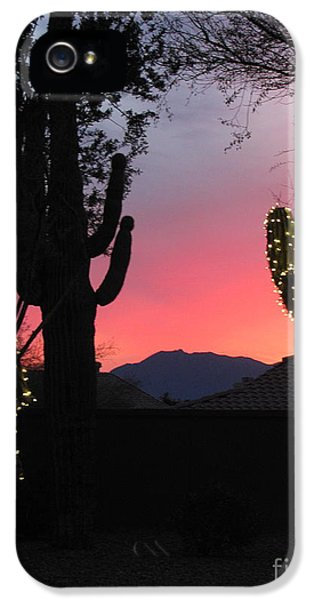 Christmas In Arizona IPhone 5 Case by Marilyn Smith