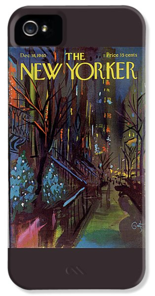 Christmas In New York IPhone 5 Case