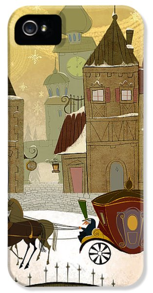 Christmas In The Old World IPhone 5 Case by Kristina Vardazaryan