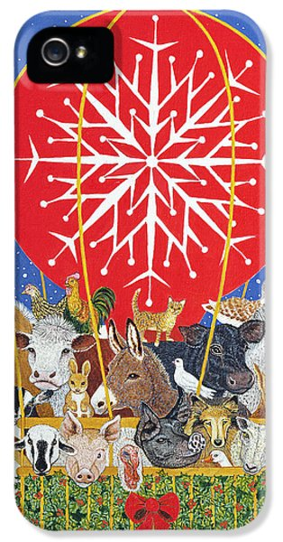 Christmas Journey Oil On Canvas IPhone 5 / 5s Case by Pat Scott