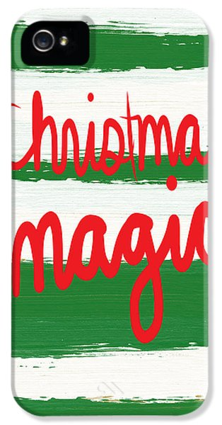Magician iPhone 5 Case - Christmas Magic - Greeting Card by Linda Woods