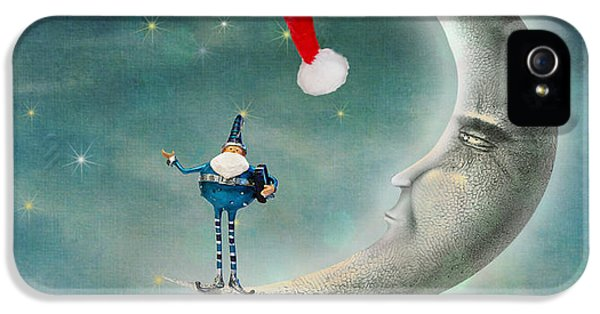 Christmas Moon IPhone 5 / 5s Case by Juli Scalzi