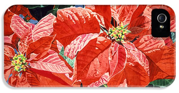 Christmas Poinsettia Magic IPhone 5 Case