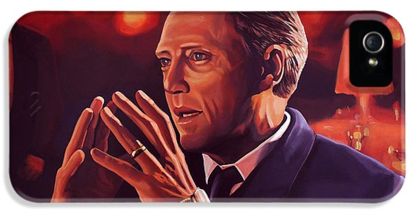 Christopher Walken Painting IPhone 5 Case by Paul Meijering