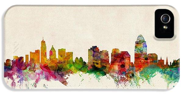 Cincinnati Ohio Skyline IPhone 5 Case by Michael Tompsett