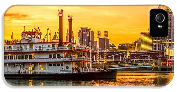 Cincinnati Skyline And Riverboat Panorama Photo IPhone 5 Case