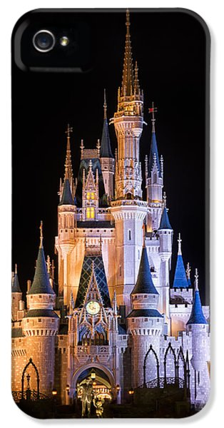 Office Buildings iPhone 5 Case - Cinderella's Castle In Magic Kingdom by Adam Romanowicz