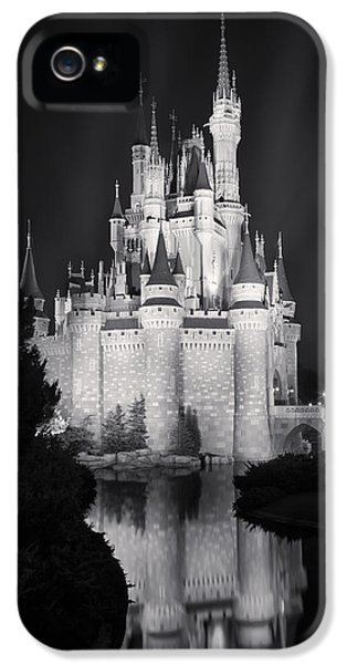 Cinderella's Castle Reflection Black And White IPhone 5 Case