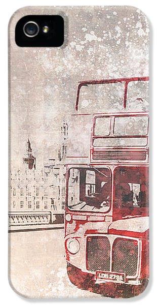 City-art London Red Buses II IPhone 5 Case by Melanie Viola