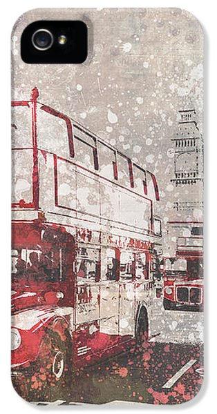 City-art London Red Buses II IPhone 5 Case by Melanie Viola