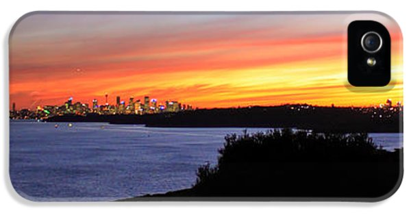 IPhone 5 Case featuring the photograph City Lights In The Sunset by Miroslava Jurcik