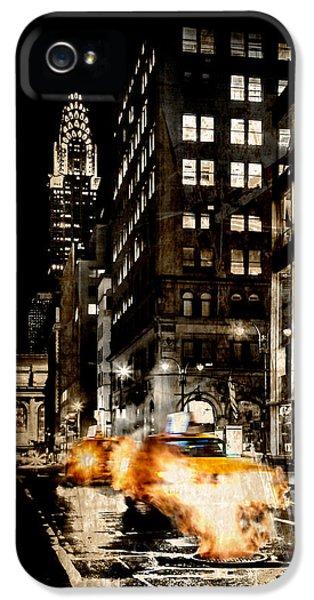 Chrysler Building iPhone 5 Case - City Streets  by Az Jackson