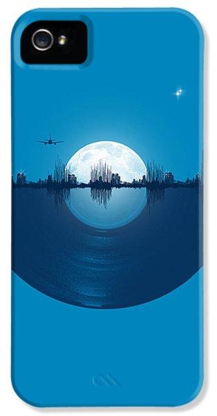 Moon iPhone 5 Case - City Tunes by Neelanjana  Bandyopadhyay