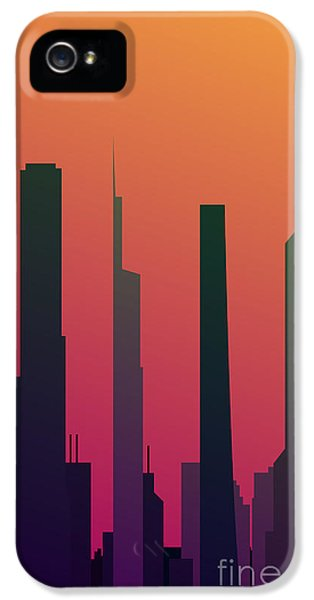 Office Buildings iPhone 5 Case - Cityscape Design Orange Version | Eps10 by Clickhere