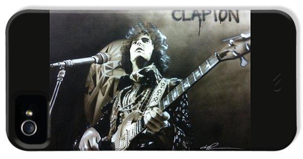 Eric Clapton iPhone 5 Case - Clapton by Christian Chapman Art