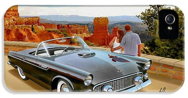 Gil iPhone 5 Case - Classic 1955 Thunderbird At Bryce Canyon Black  by John Samsen