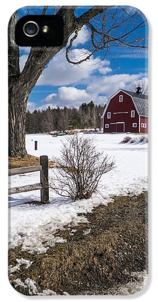 Etna iPhone 5 Case - Classic New England Farm Scene by Edward Fielding