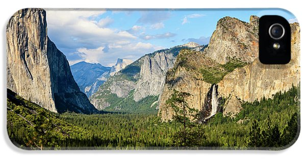 Classic Tunnel-view, Bridalveil Falls IPhone 5 Case by Tom Norring